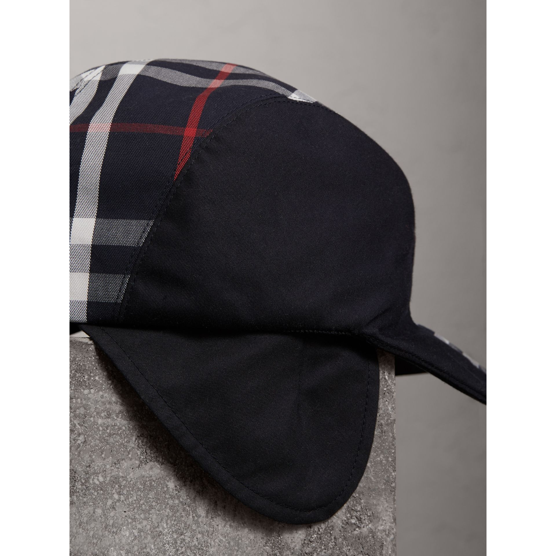 Gosha x Burberry Duckbill Cap in Navy - Men | Burberry - gallery image 1