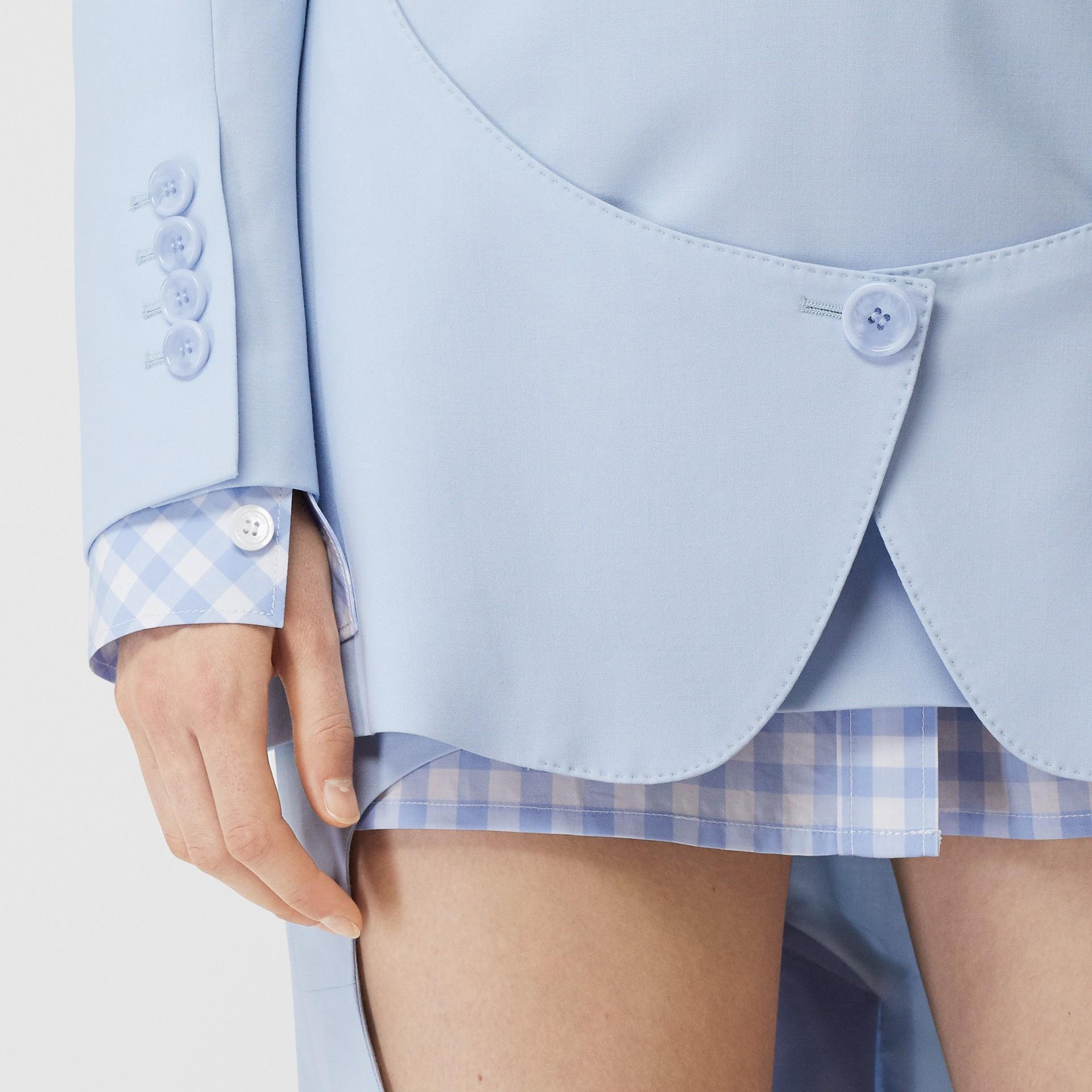 Blazer en laine avec découpe (Bleu Pâle) - Femme | Burberry Canada - photo de la galerie 4
