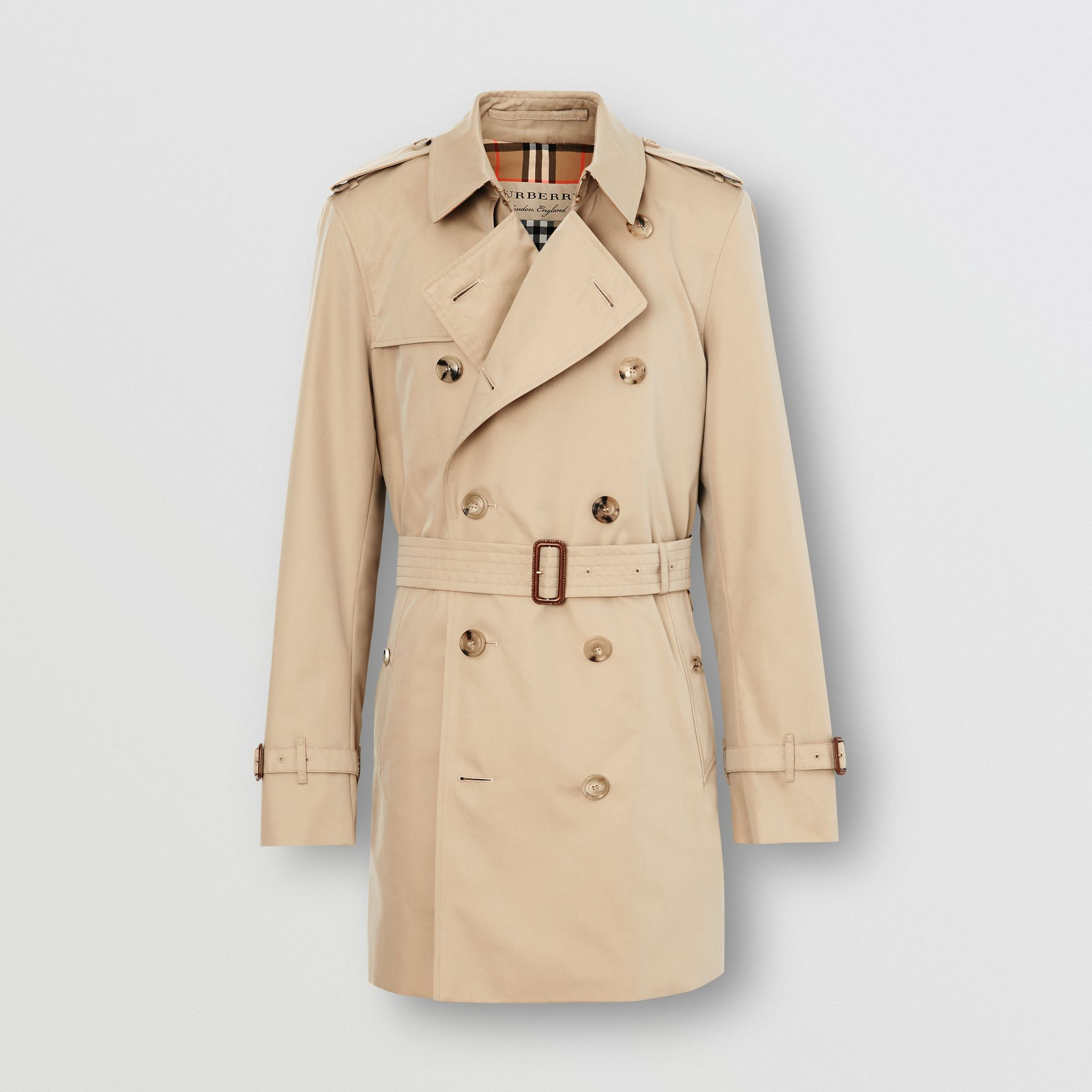 Short Chelsea Fit Trench Coat in Honey - Men | Burberry United Kingdom - gallery image 3