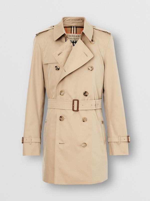 Short Chelsea Fit Trench Coat in Honey - Men | Burberry United Kingdom - cell image 3