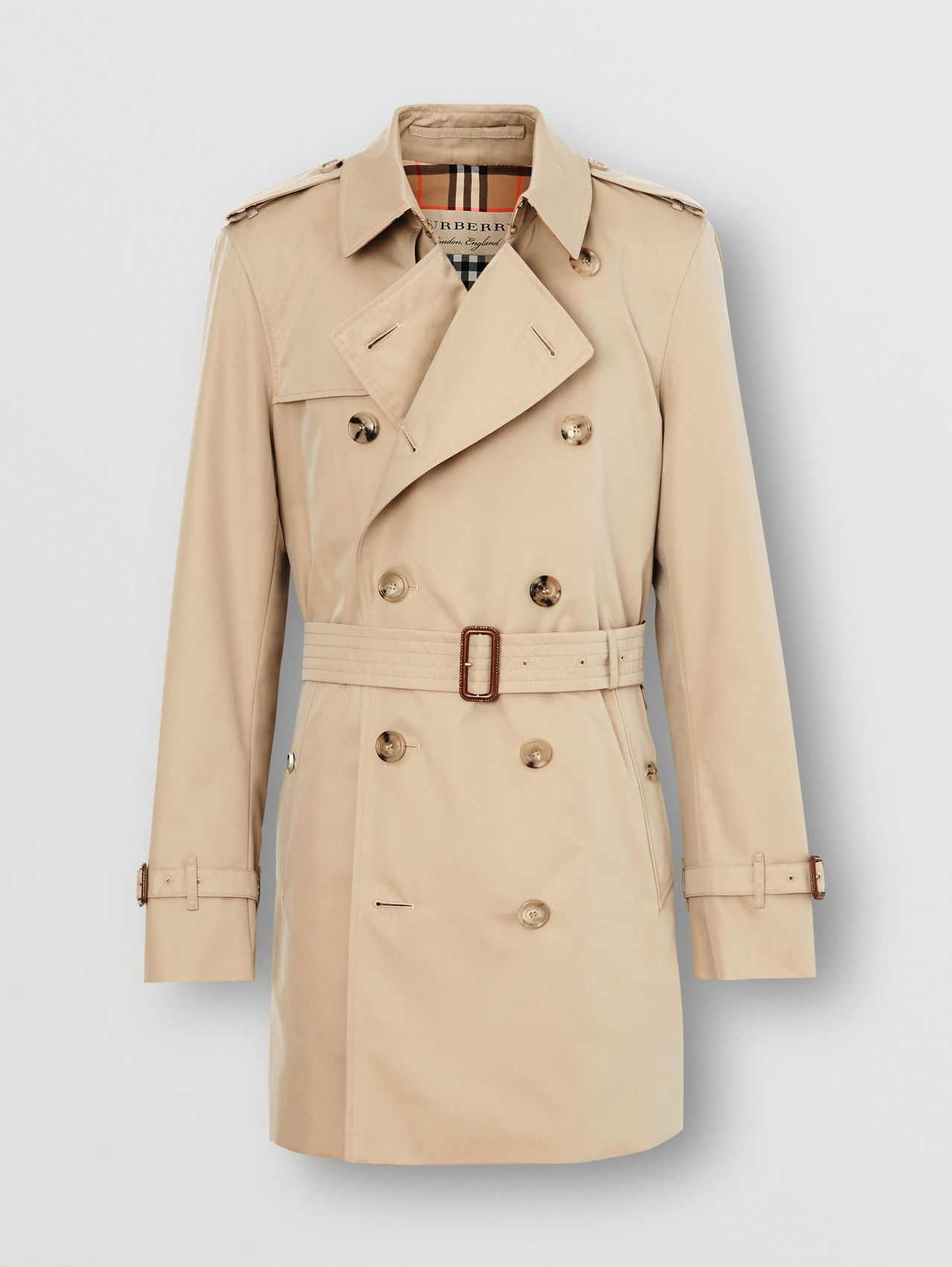 Short Chelsea Fit Trench Coat in Honey