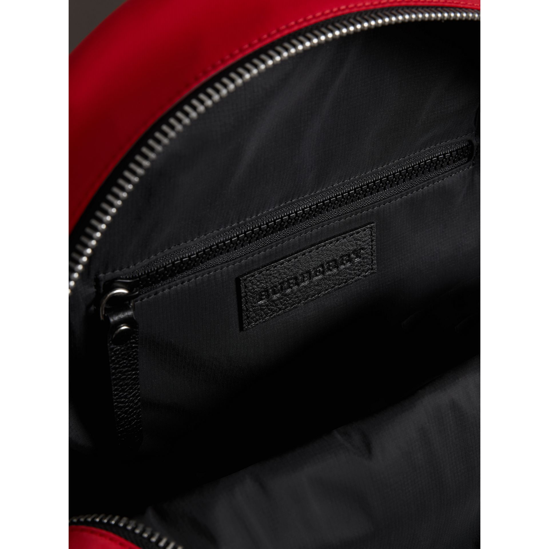 Appliquéd Nylon Backpack in Military Red | Burberry - gallery image 3