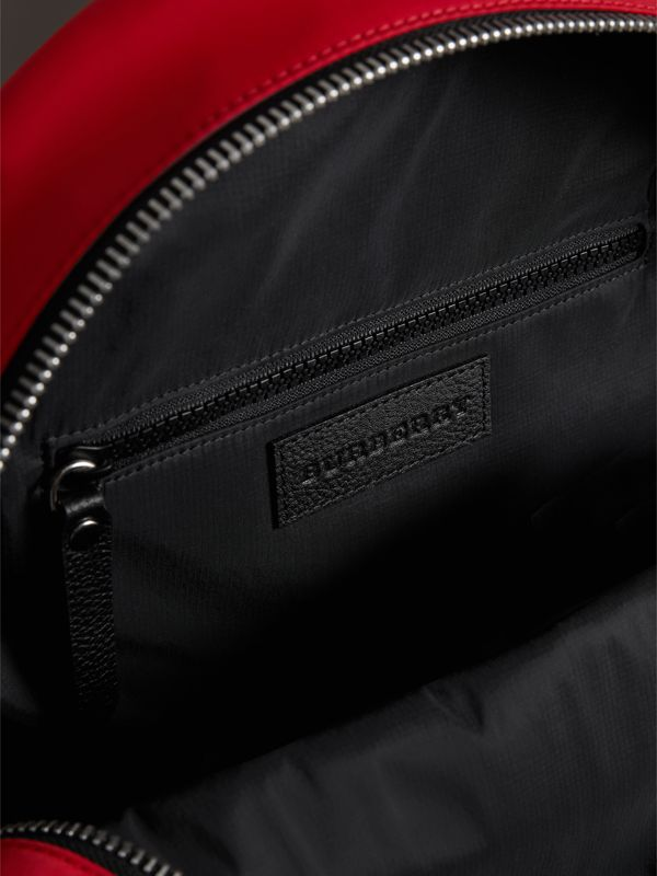 Appliquéd Nylon Backpack in Military Red | Burberry - cell image 3