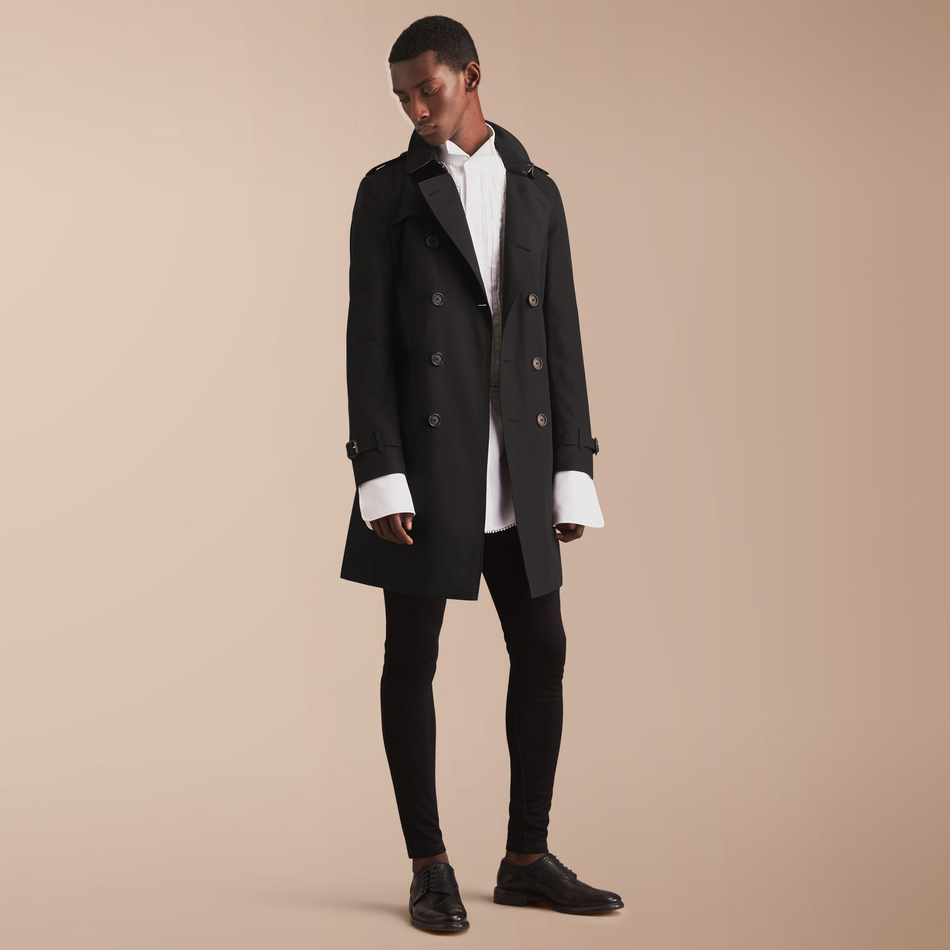 The Chelsea – Long Heritage Trench Coat in Black - gallery image 1