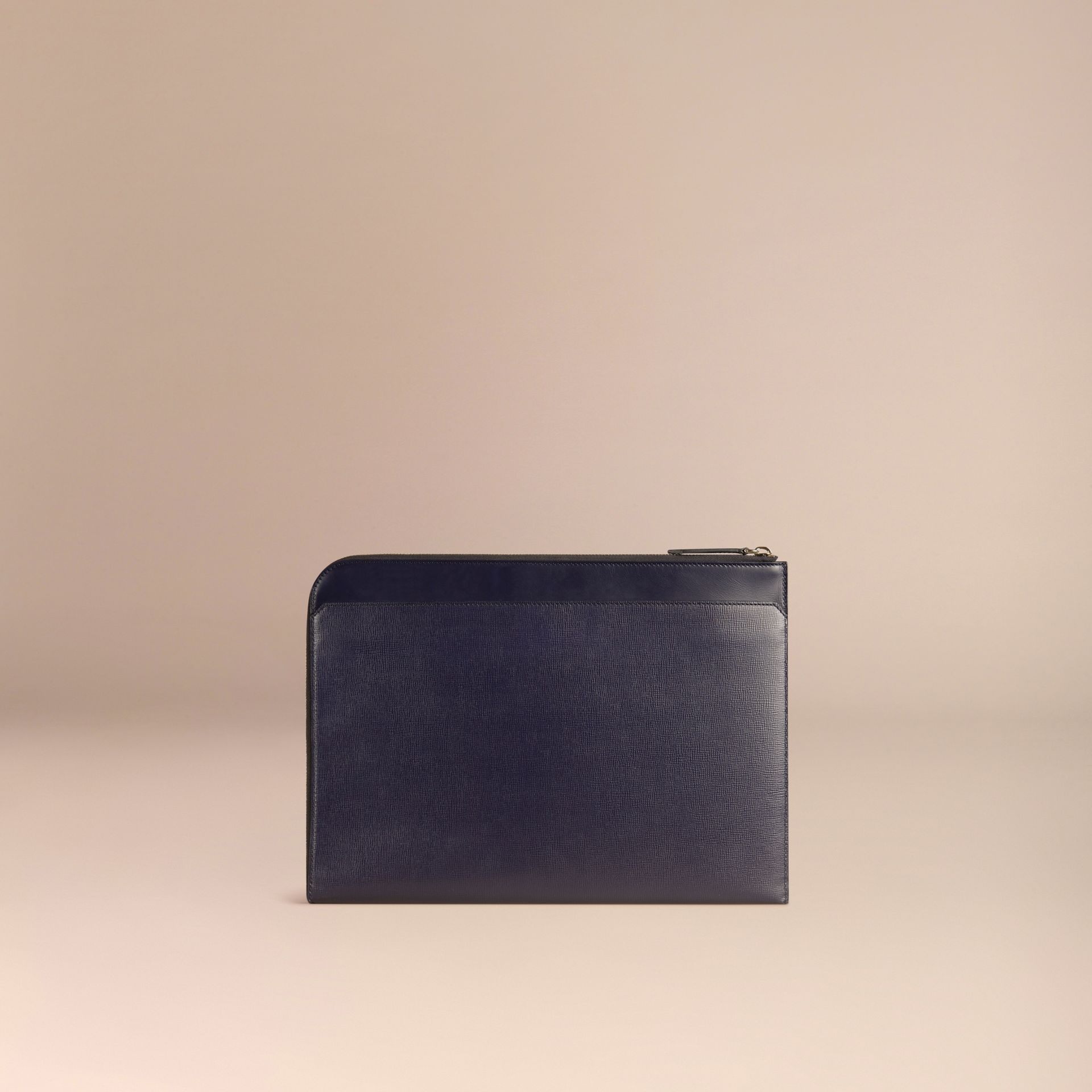 Dark navy London Leather Document Case Dark Navy - gallery image 4