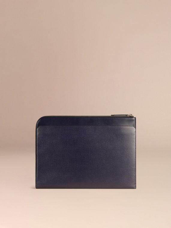 London Leather Document Case Dark Navy - cell image 3