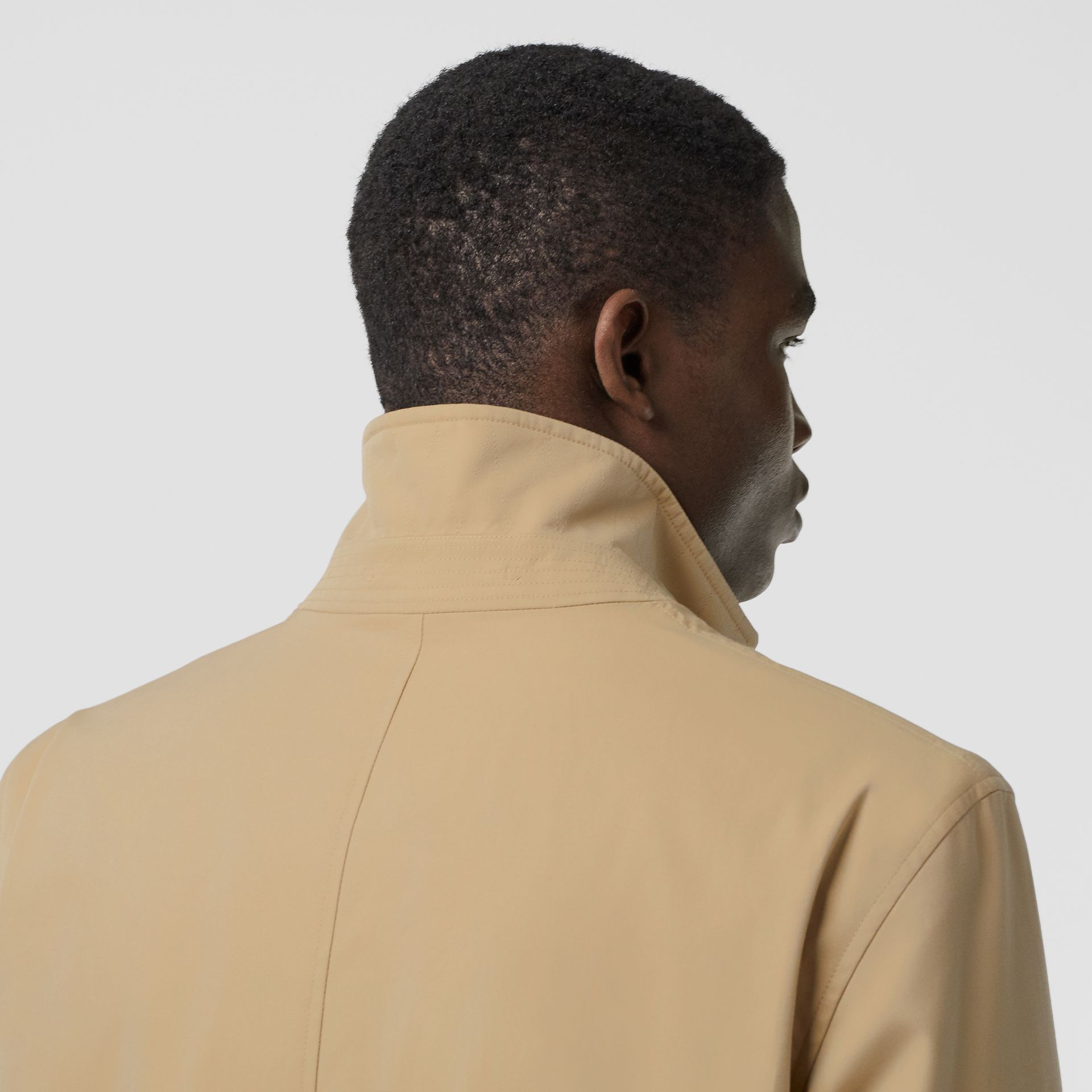 Cotton Gabardine Lab Coat in Honey - Men | Burberry - gallery image 3