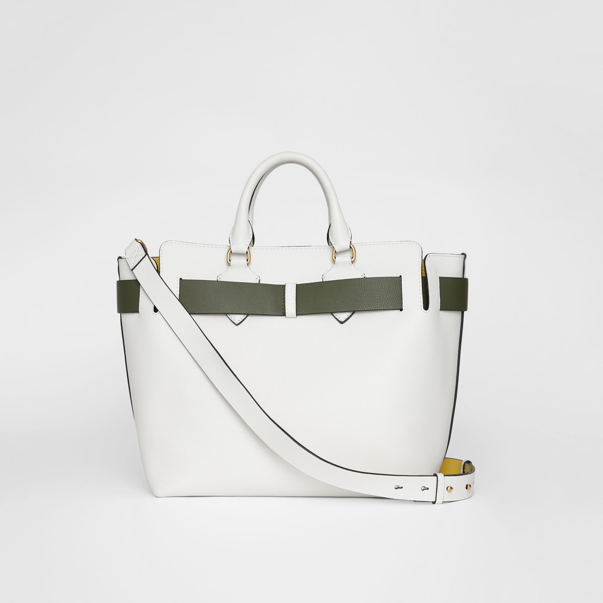The Medium Leather Belt Bag in Chalk White - Women | Burberry - gallery image 7