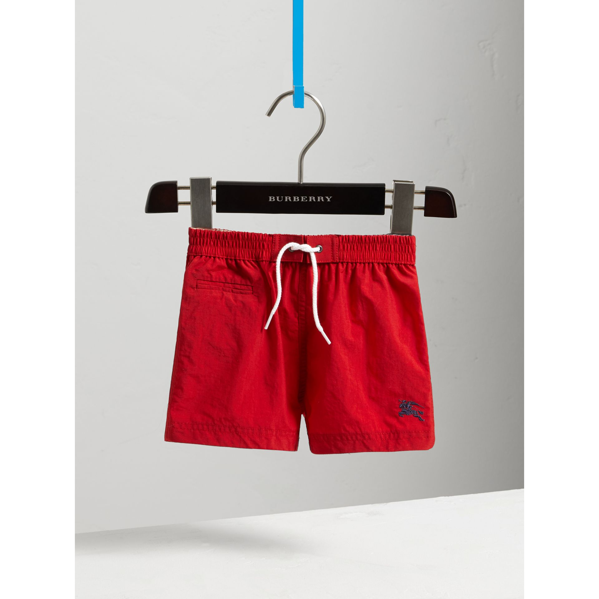 Quick-dry Swim Shorts in Military Red | Burberry - gallery image 0