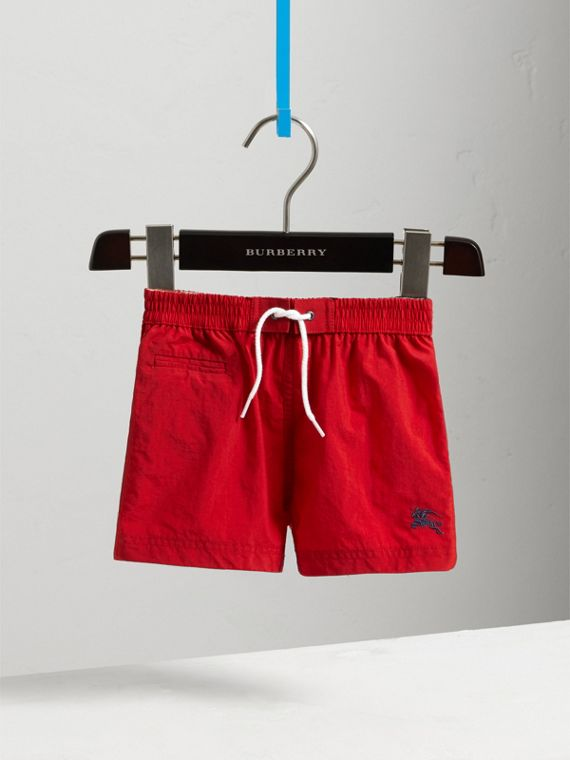 Quick-dry Swim Shorts in Military Red