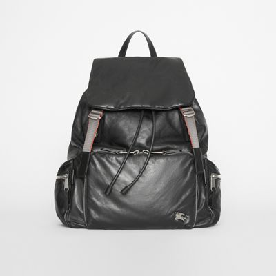 Rucksack Sac Extra En noir The Nappa Homme Burberry Cuir Large ppc5wrnTq