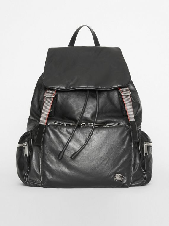 The Extra Large Rucksack in Nappa Leather in Black