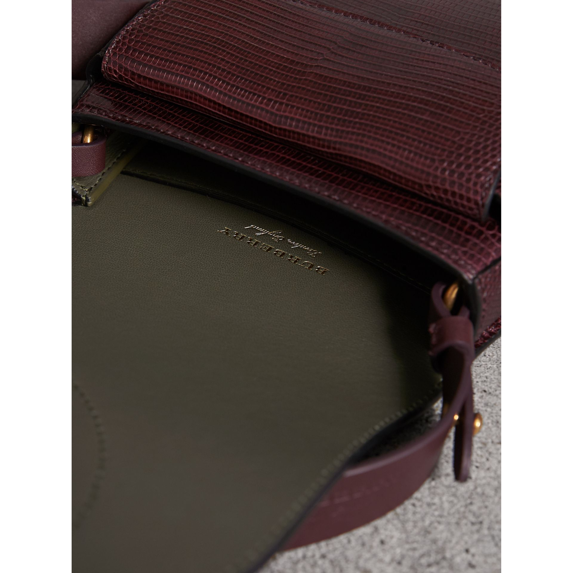 The Satchel in Lizard in Dark Mahogany - Women | Burberry United Kingdom - gallery image 5