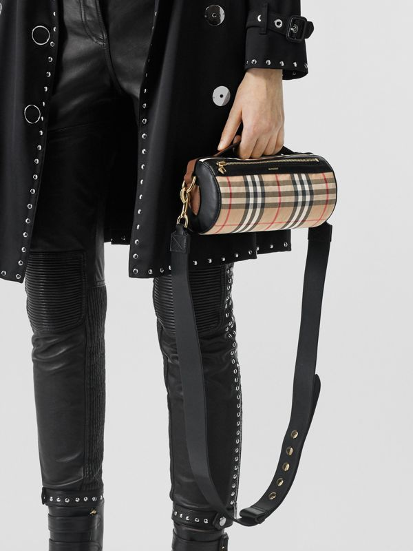 The Barrel Bag aus Vintage Check-Gewebe und Leder (Vintage-beige/schwarz) - Damen | Burberry - cell image 2
