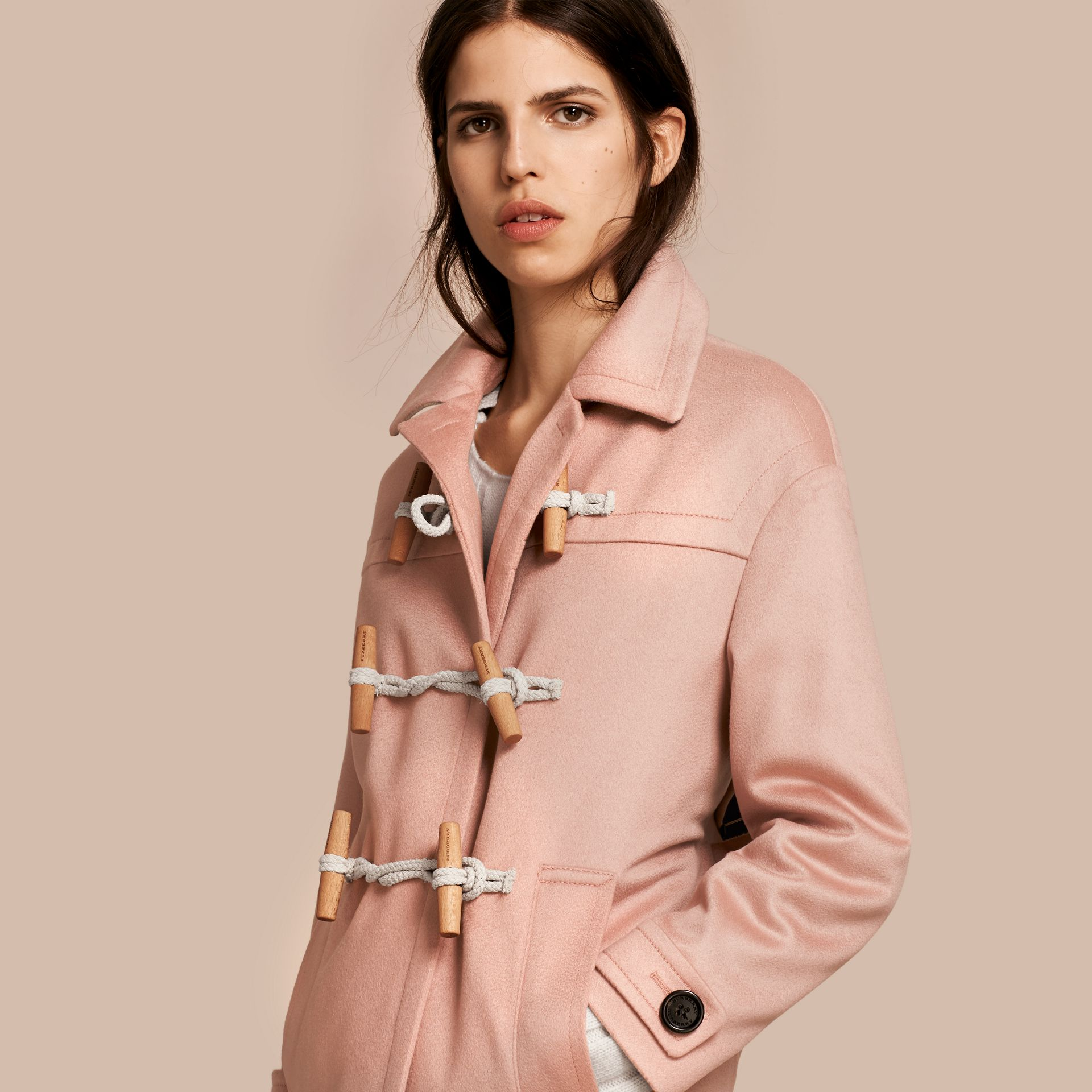 Chalk pink Cashmere Duffle Coat Chalk Pink - gallery image 1