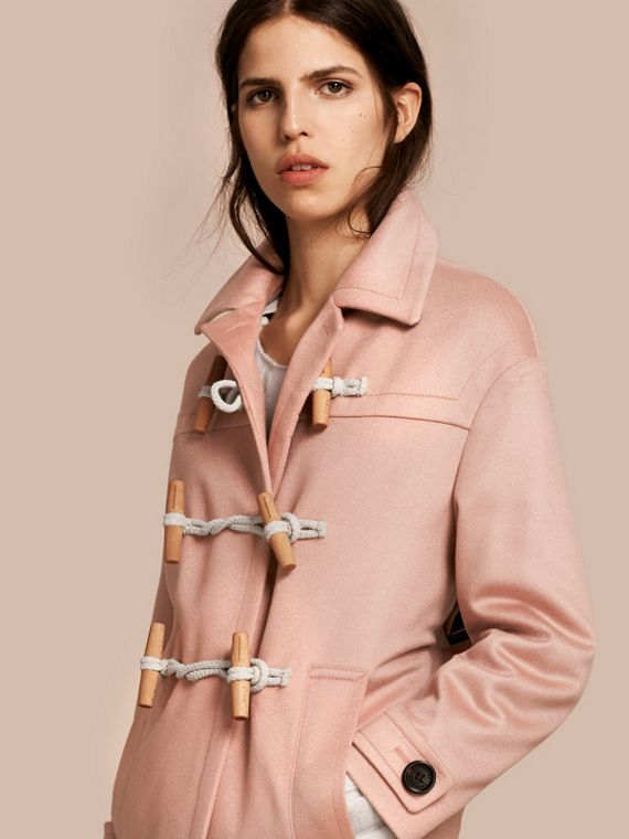 Cashmere Duffle Coat Chalk Pink