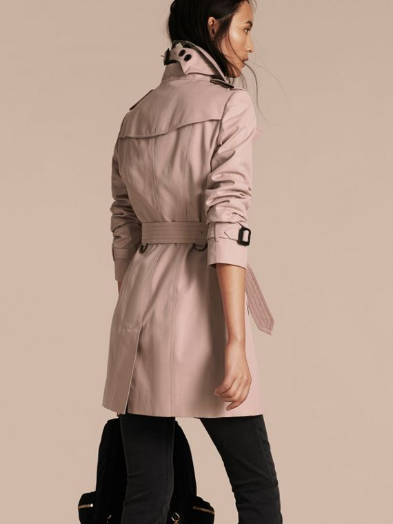 Ice pink Cotton Gabardine Trench Coat - cell image 2