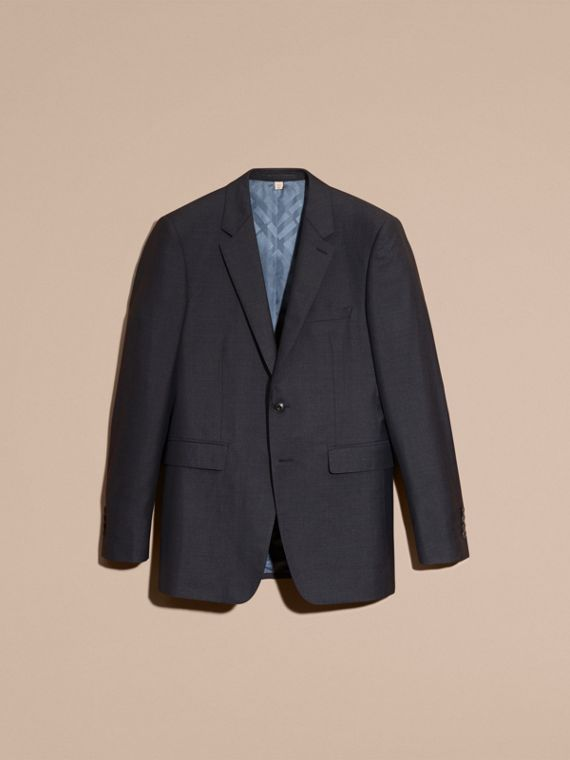 Dark pewter blue Modern Fit Wool Silk Half-canvas Suit - cell image 3