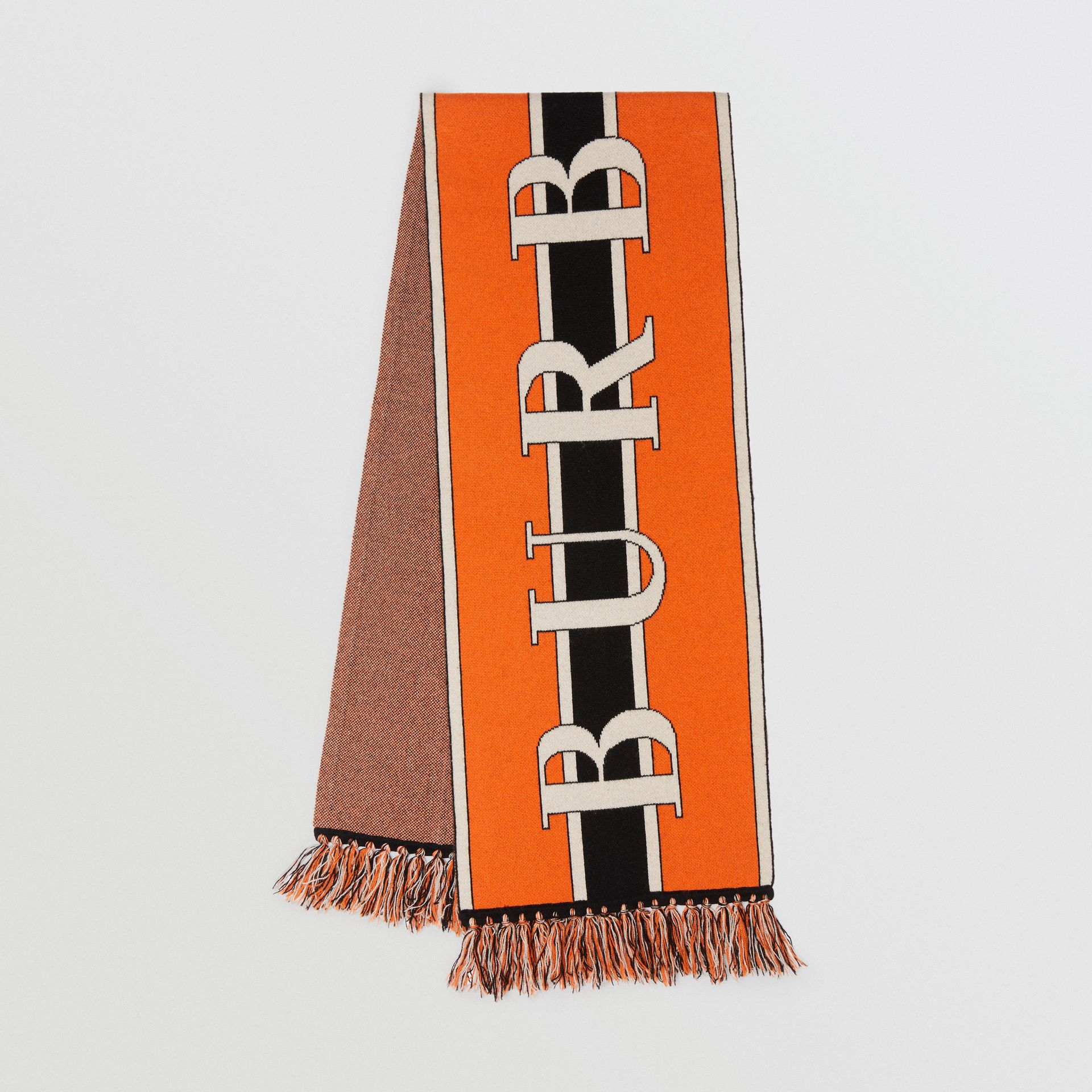 Logo Cashmere Scarf in Multicolour | Burberry - gallery image 0