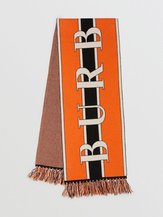 Logo Cashmere Scarf in Multicolour