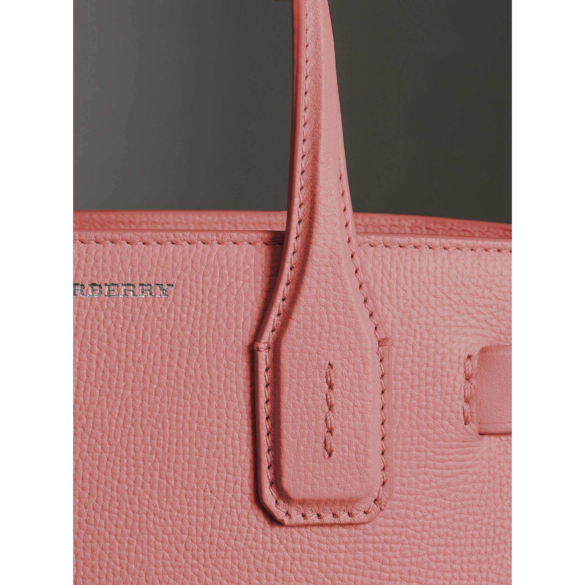 The Small Banner in Leather and Vintage Check in Dusty Rose - Women | Burberry United States - gallery image 1