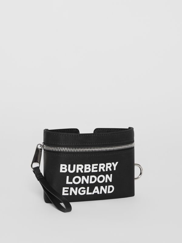 Logo Print Nylon Armband Pouch in Black - Men | Burberry - cell image 2