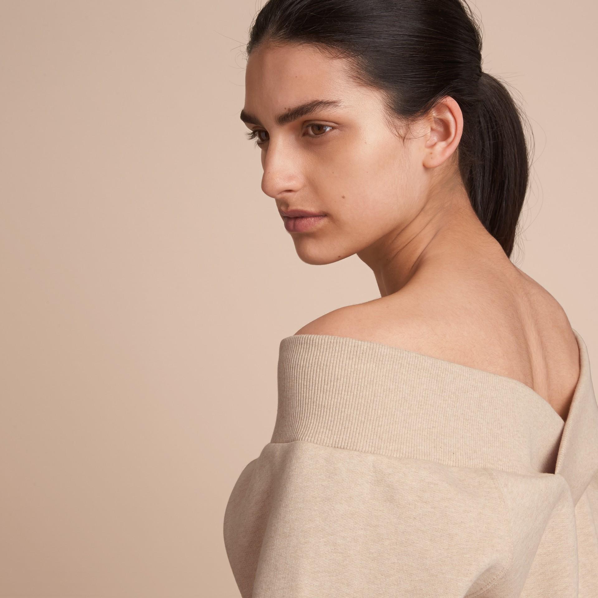 Off-the-shoulder Sweatshirt - gallery image 5