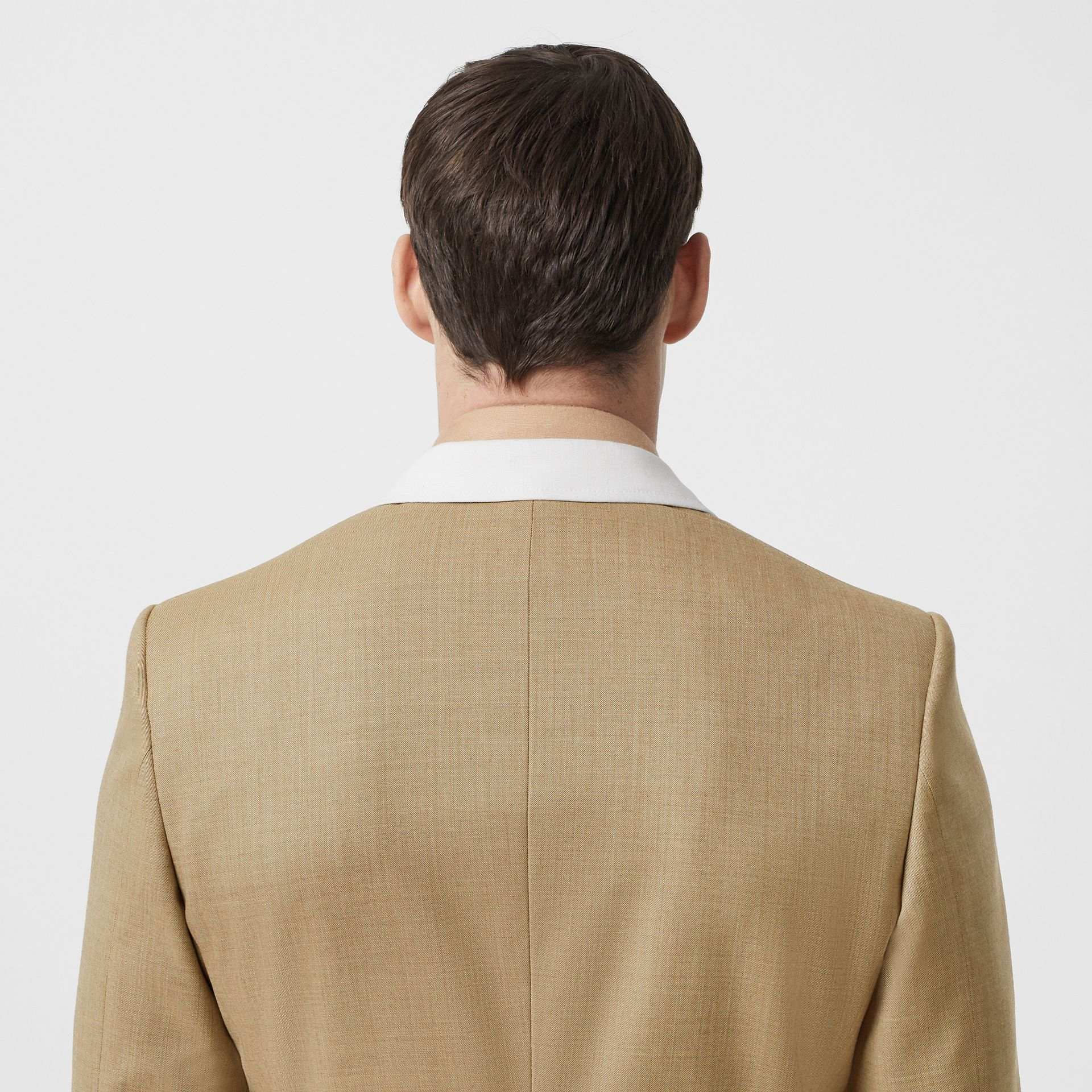 English Fit Wool Cashmere and Linen Tailored Jacket in Pecan Melange | Burberry - gallery image 5