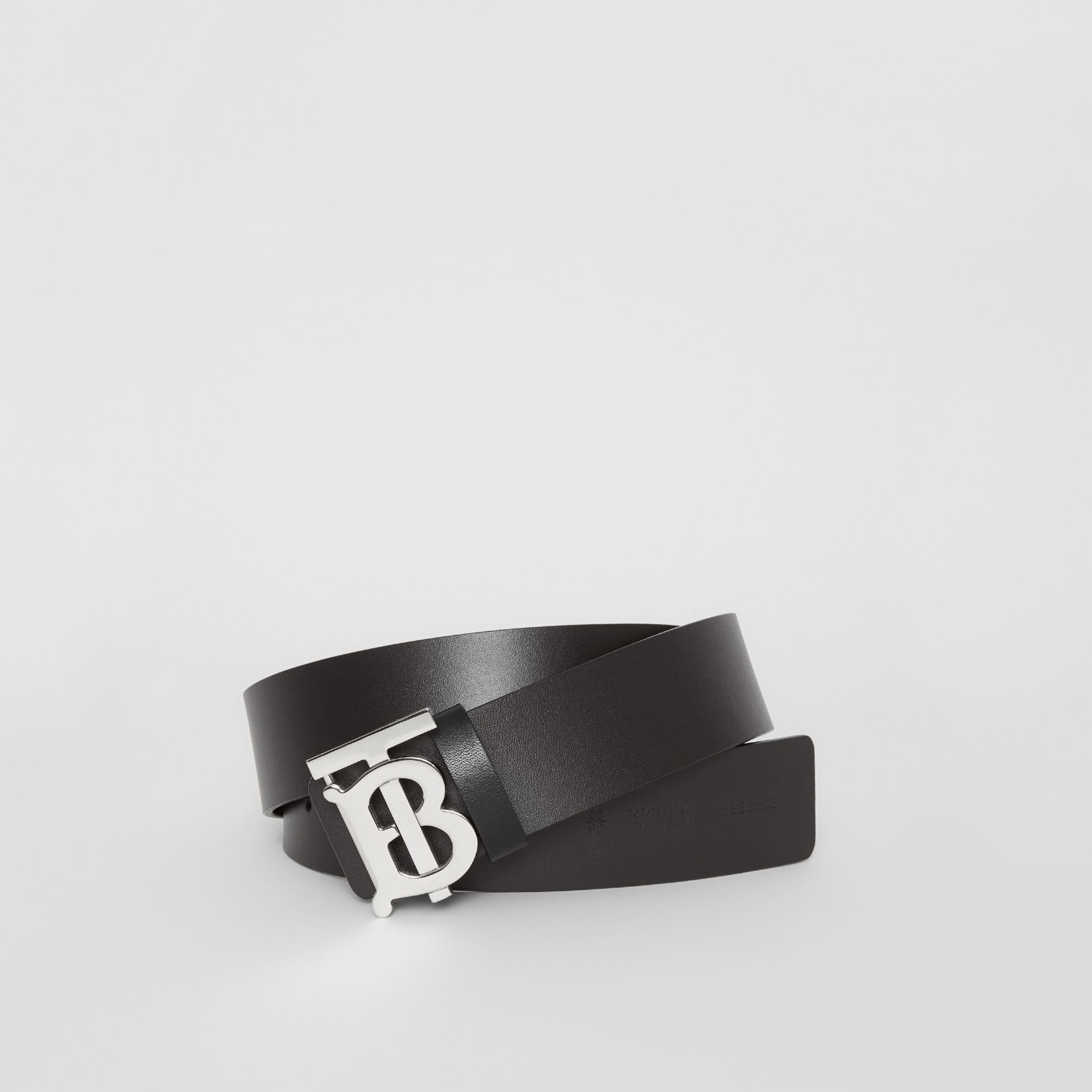 Reversible Monogram Motif Leather Belt in Black/malt Brown - Men | Burberry - gallery image 0