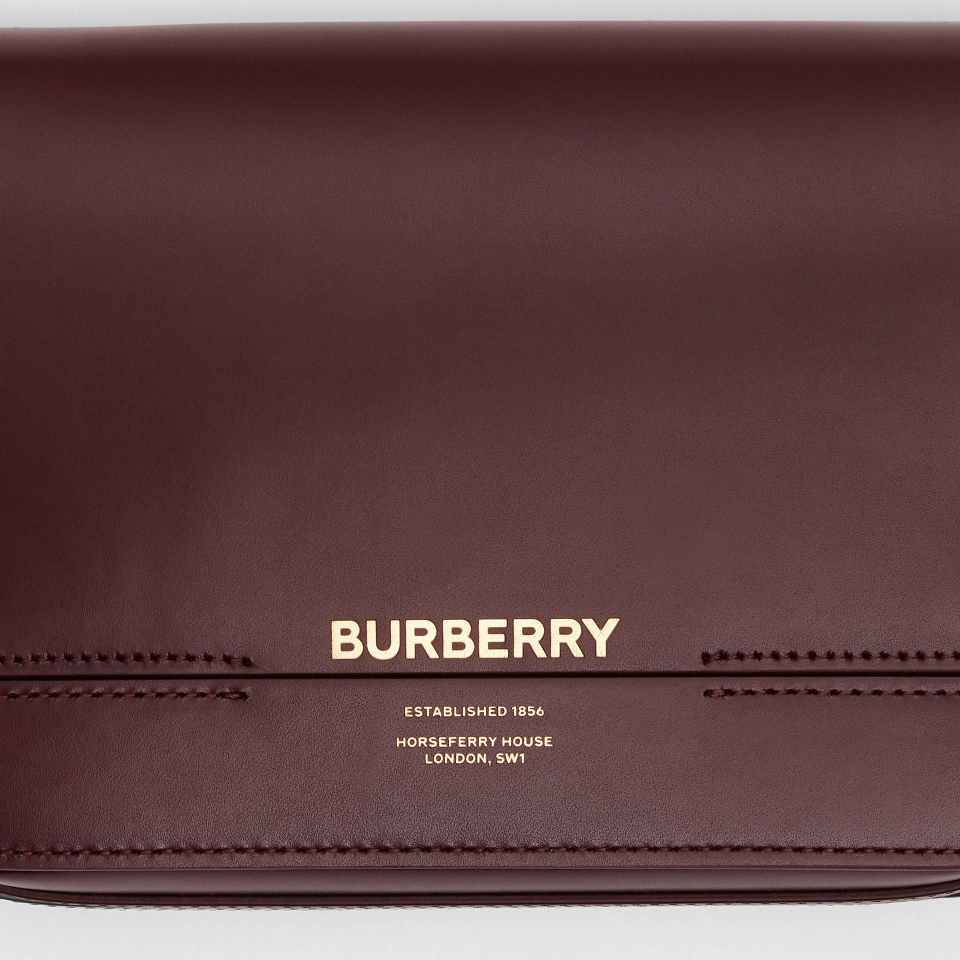 Petit sac Grace en cuir (Oxblood) - Femme | Burberry - photo de la galerie 1