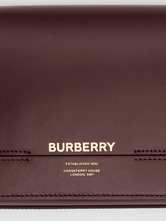 Small Leather Grace Bag in Oxblood - Women | Burberry Australia - cell image 1