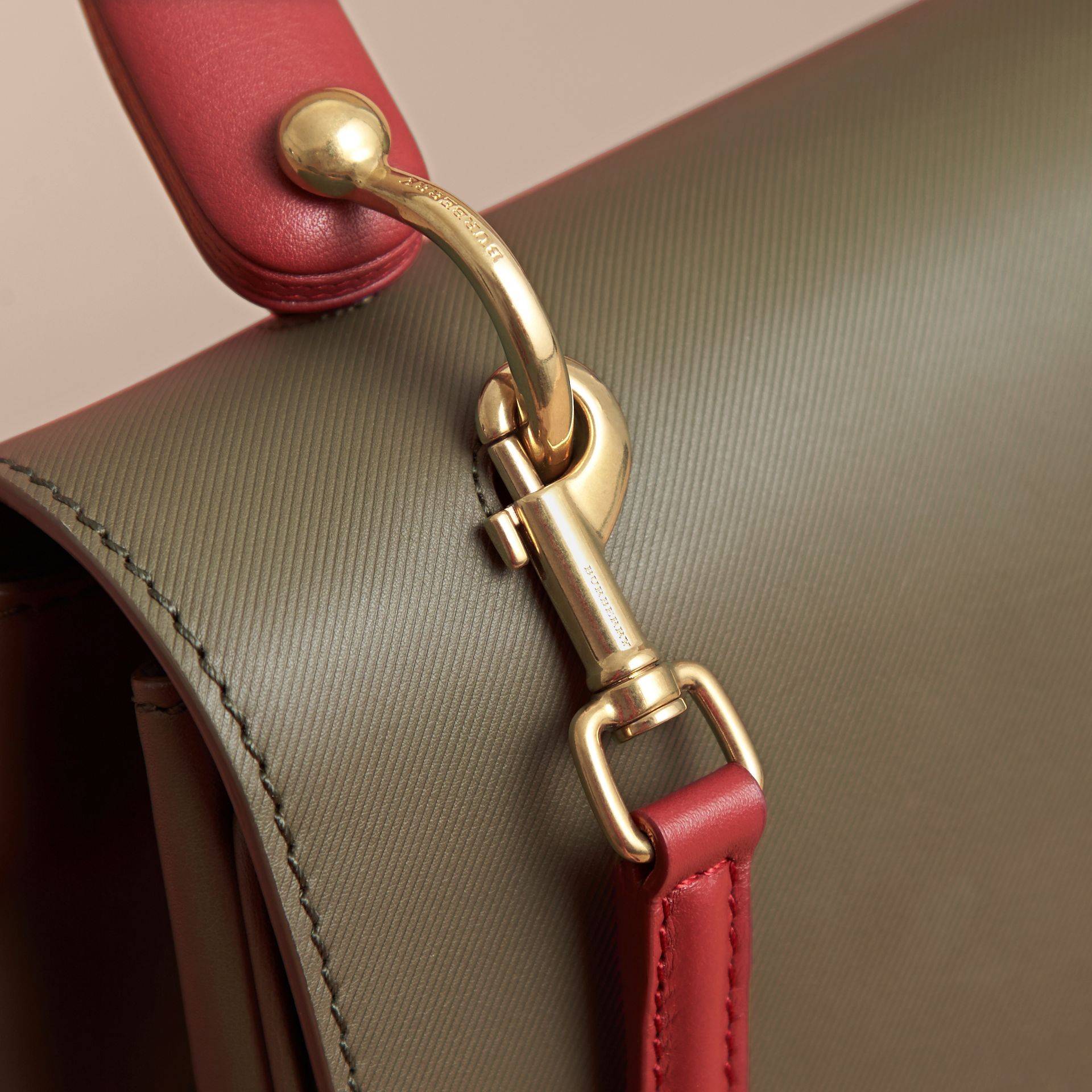 The Medium DK88 Top Handle Bag in Moss Green - Women | Burberry - gallery image 2