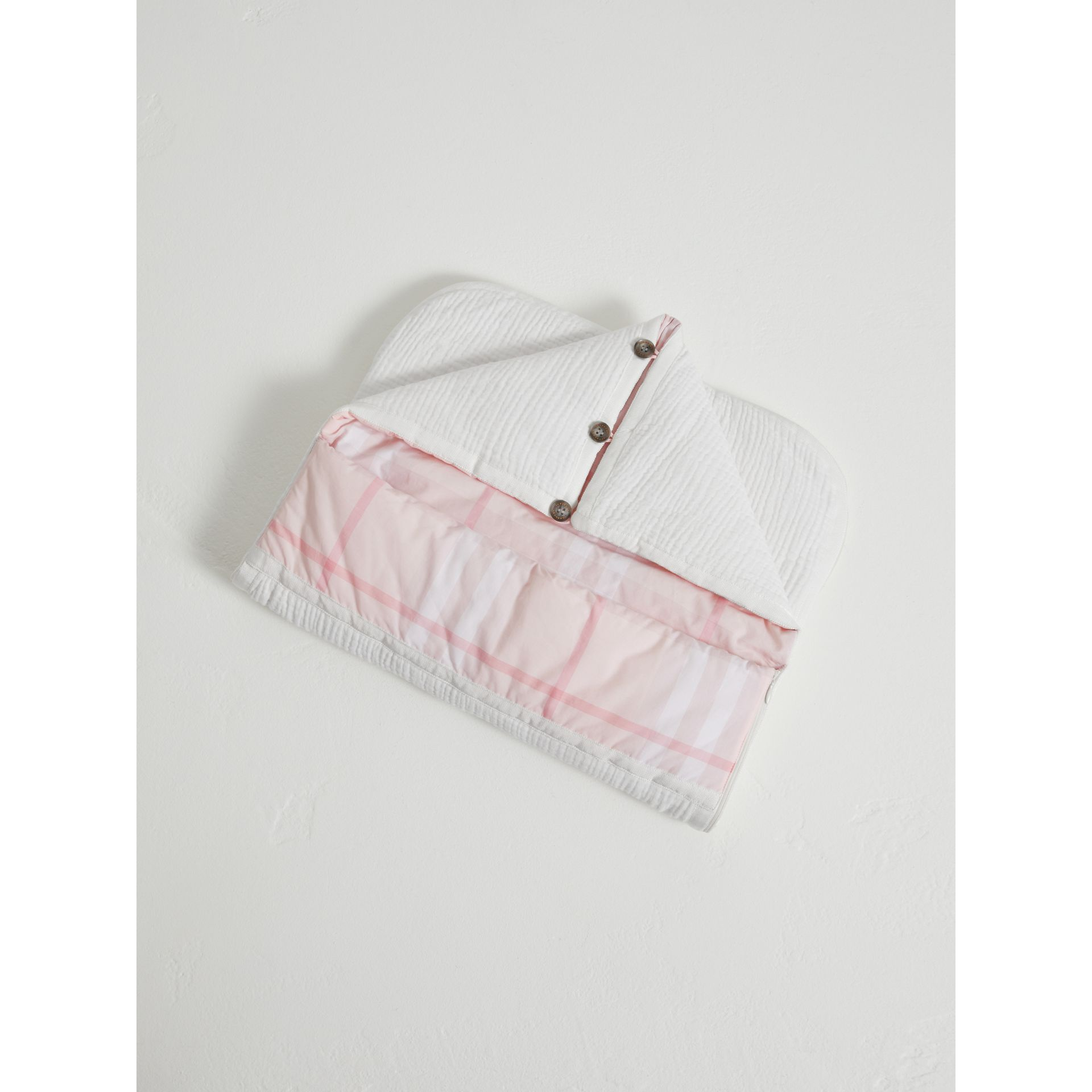 Quilted Cotton Baby Nest in Ice Pink | Burberry - gallery image 2