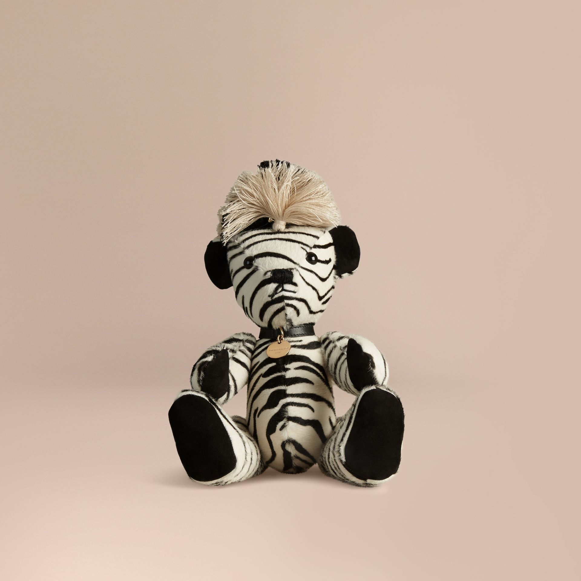 Natural Thomas Bear in Zebra Calfskin - gallery image 1