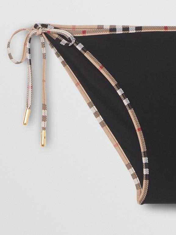 Bikini triangle avec Vintage check (Noir) - Femme | Burberry Canada - cell image 1