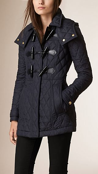 Diamond Quilted Duffle Coat