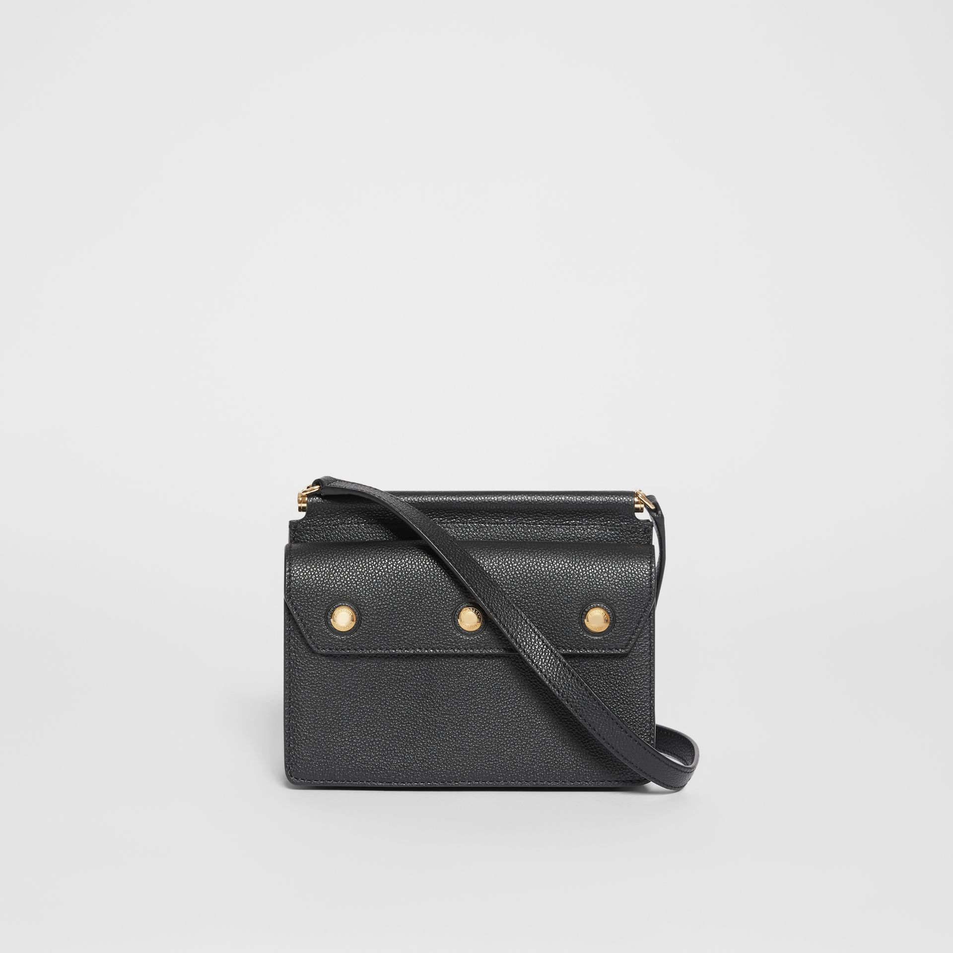 Mini Leather Title Bag with Pocket Detail in Black - Women | Burberry United States - gallery image 7