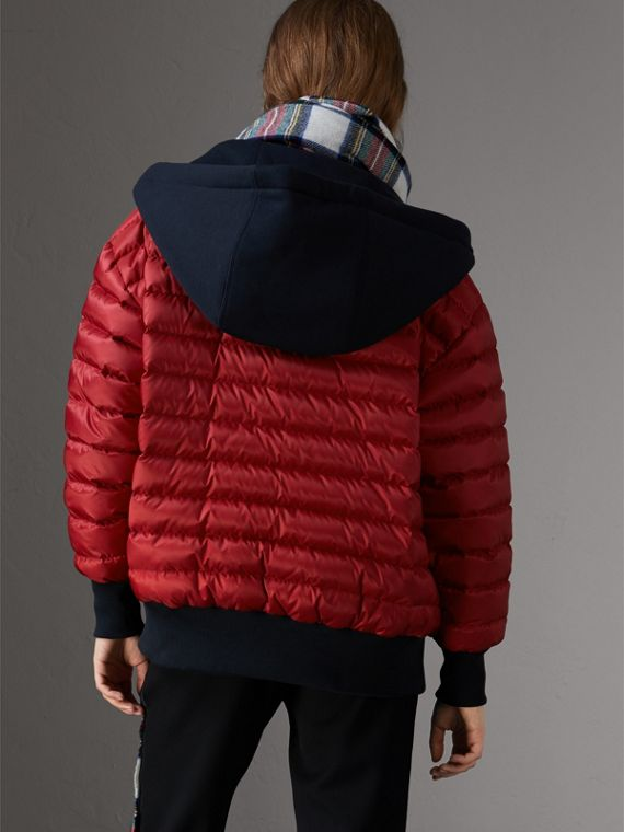 Reversible Down-filled Hooded Bomber Jacket in Parade Red - Women | Burberry Singapore - cell image 2