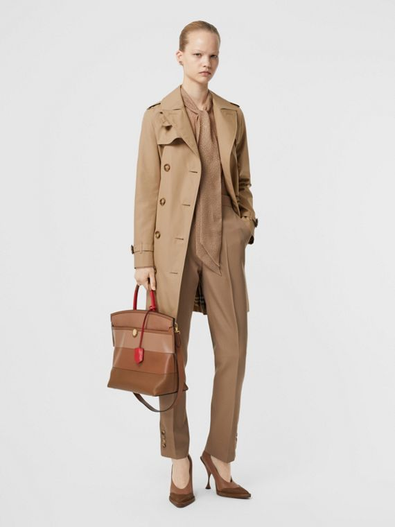 Cotton Gabardine Trench Coat in Biscuit