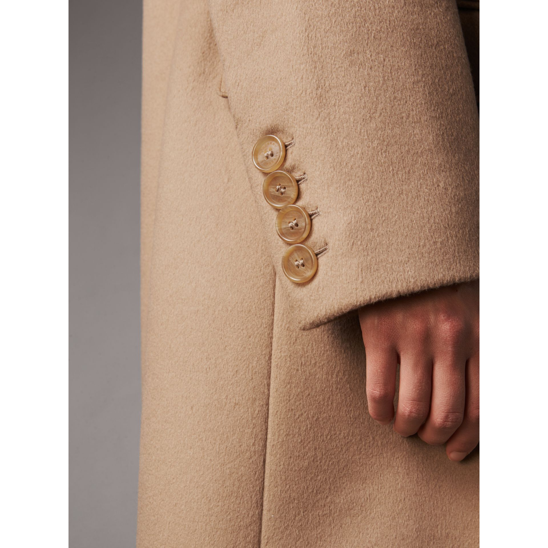 Wool Cashmere Tailored Coat in Camel - Women | Burberry - gallery image 2
