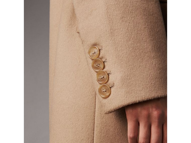 Wool Cashmere Tailored Coat in Camel - Women | Burberry Hong Kong - cell image 1