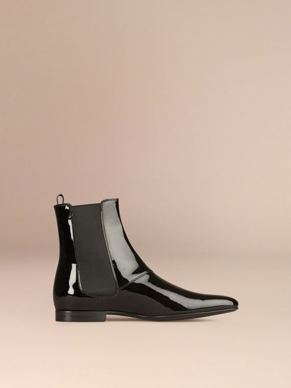 Black Patent Leather Chelsea Boots - cell image 2