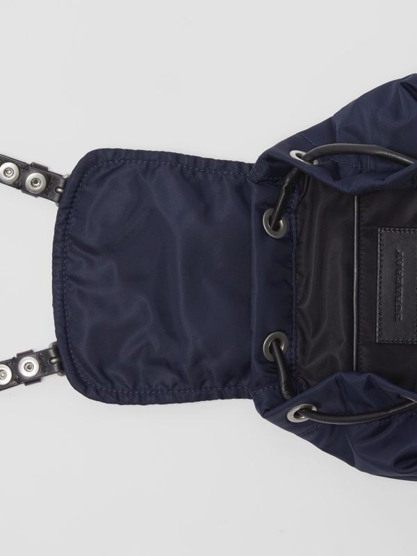The Small Crossbody Rucksack in Puffer Nylon in Ink Blue - Women | Burberry - cell image 3