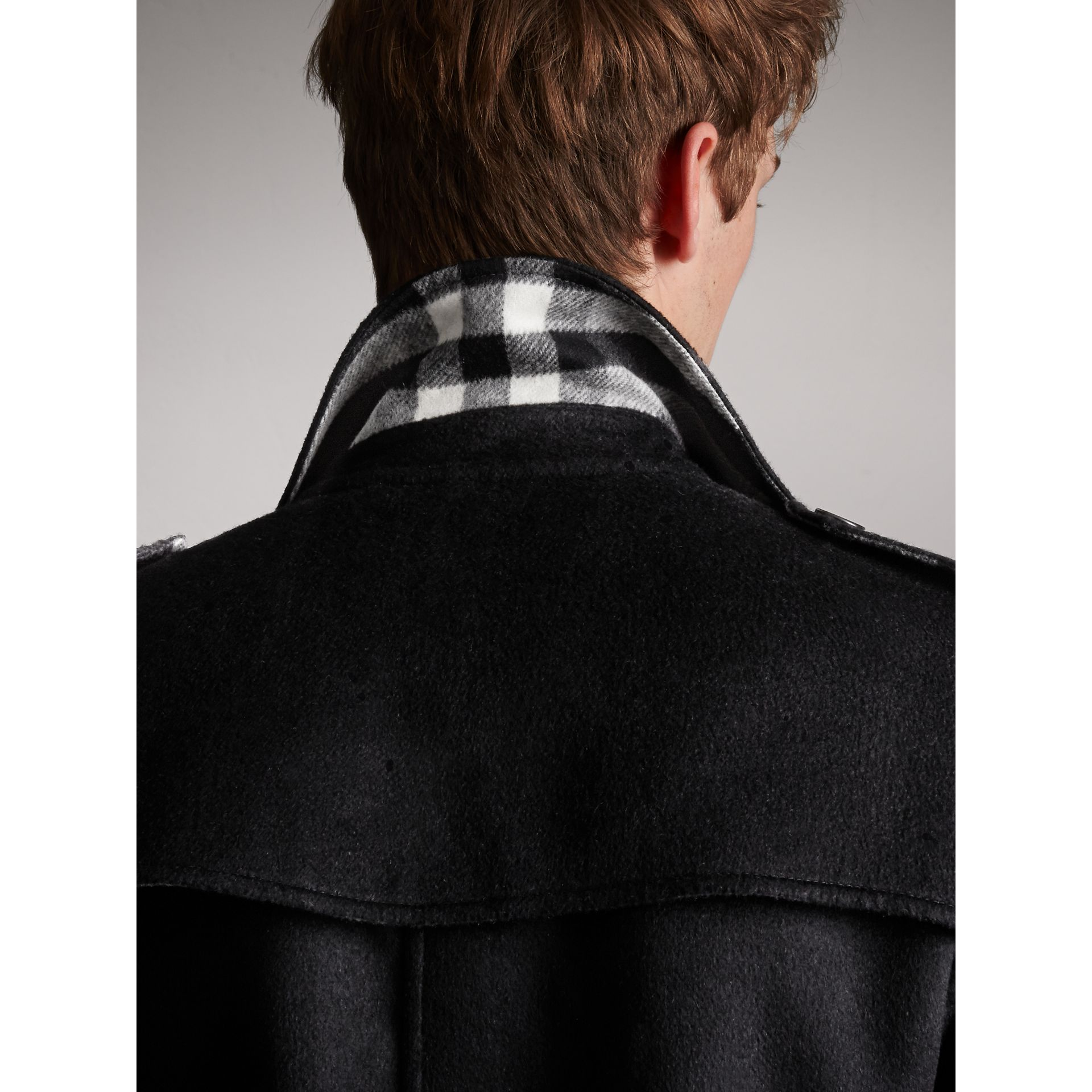 Cashmere Wool Trench Coat in Black - Men | Burberry - gallery image 2