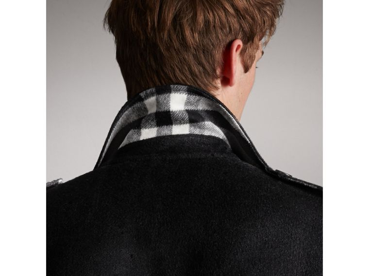 Cashmere Wool Trench Coat in Black - Men | Burberry Hong Kong - cell image 1