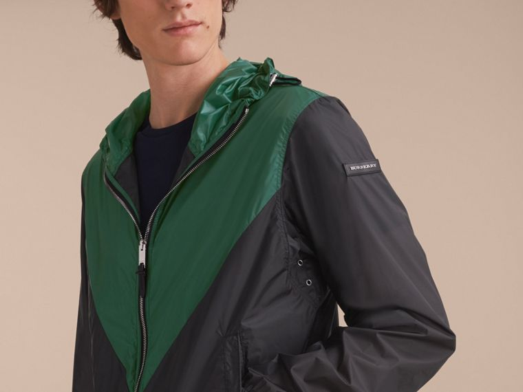Ultra-lightweight Geometric Motif Technical Jacket with Hood - cell image 4