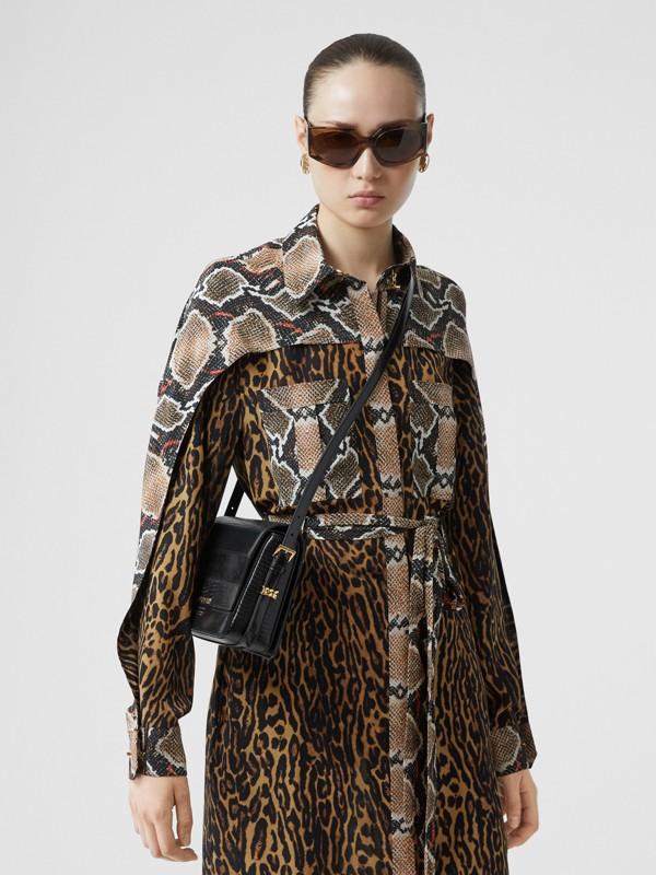 Petit sac Grace en cuir de cerf et cuir velours (Noir) - Femme | Burberry - cell image 2