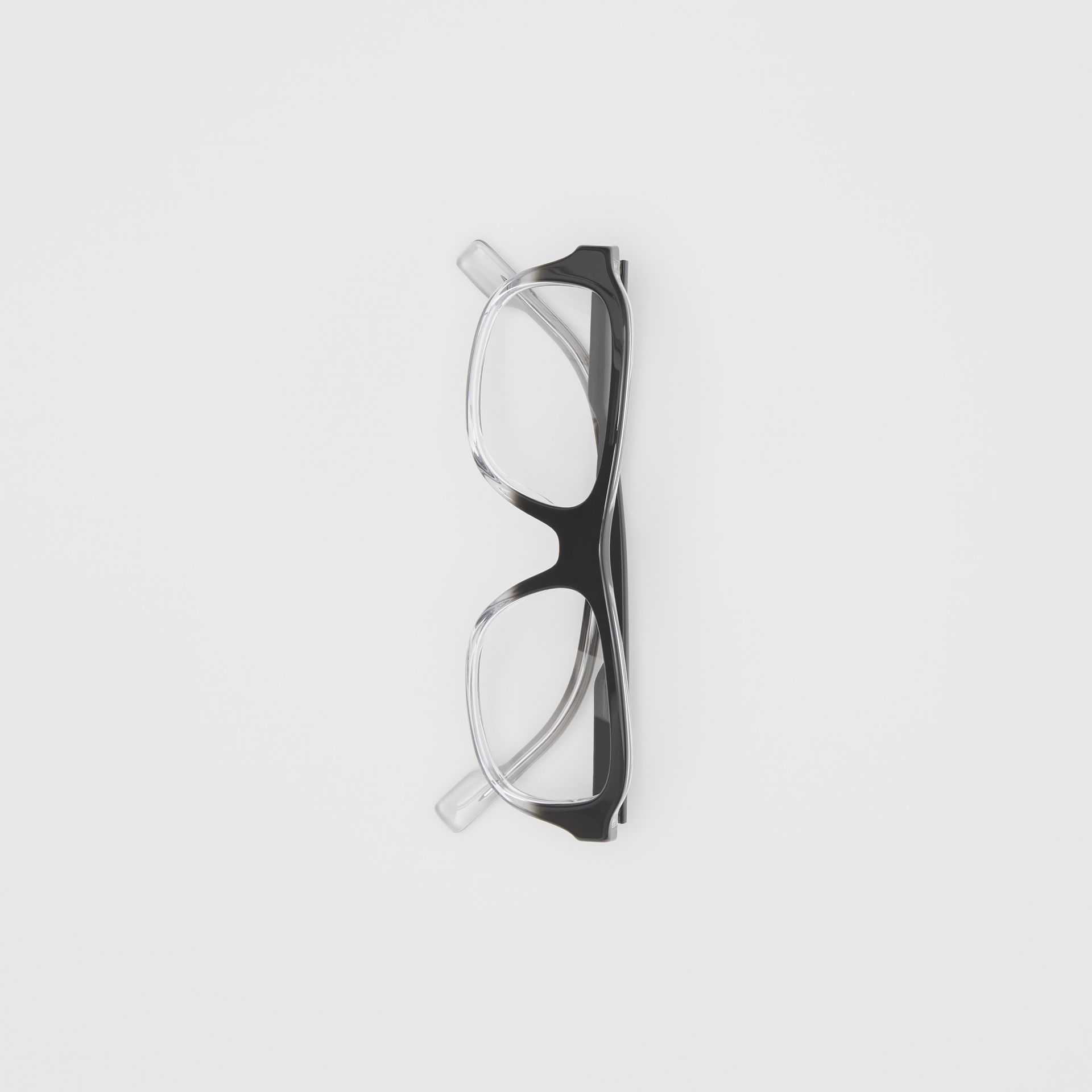 Gradient Detail Rectangular Optical Frames in Black - Men | Burberry United Kingdom - gallery image 3