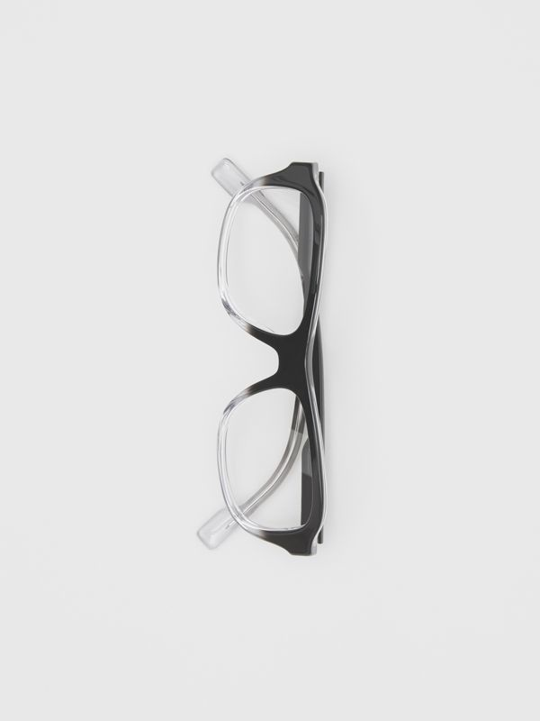 Gradient Detail Rectangular Optical Frames in Black - Men | Burberry - cell image 3