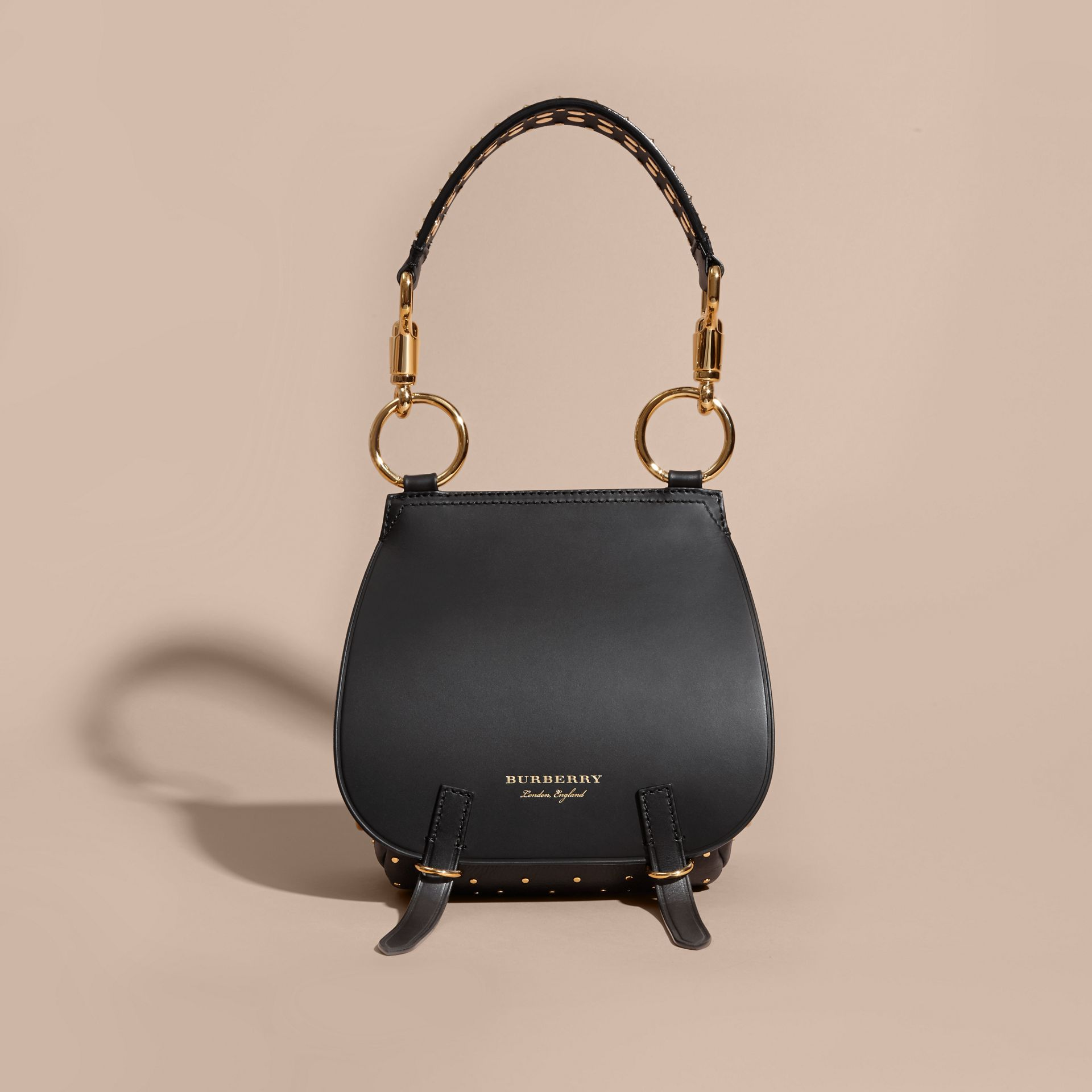 The Bridle Bag in Leather and Rivets in Black - gallery image 8